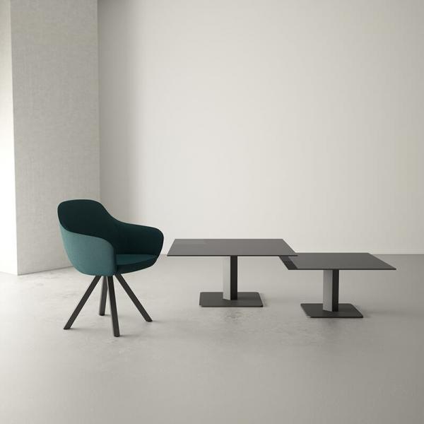 Table basse moderne en verre  - 1