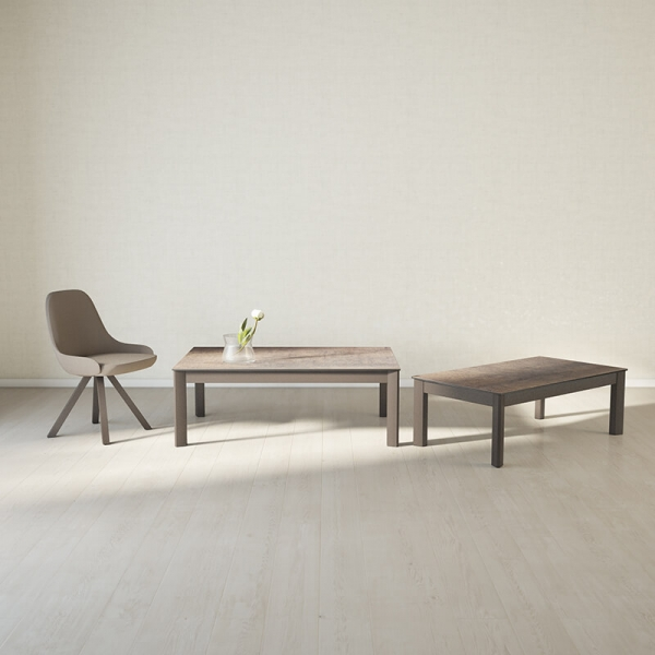 Table basse rectangle en céramique  - 1