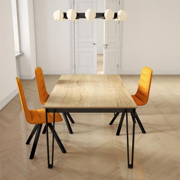 Table de repas en stratifié rectangulaire  - 2
