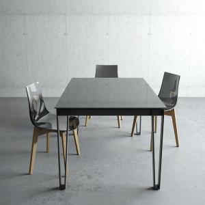 Table en verre de salle à manger design
