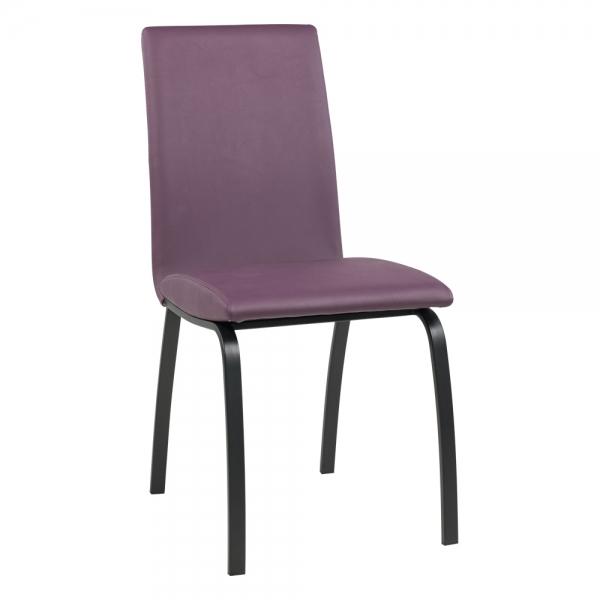 Chaise de salle à manger rembourrée avec pieds en métal noir - Dara - 13