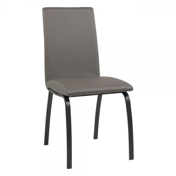 Chaise rembourrée avec pieds en métal noir - Dara - 15