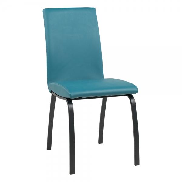 Chaise de salle à manger avec pieds en métal noir - Dara - 16