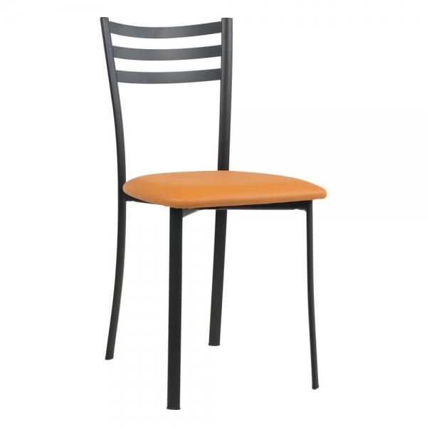 Chaise de cuisine structure métal noir - Ace 1320 - 47