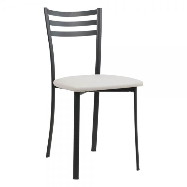 Chaise de cuisine structure métal noire - Ace 1320 - 51
