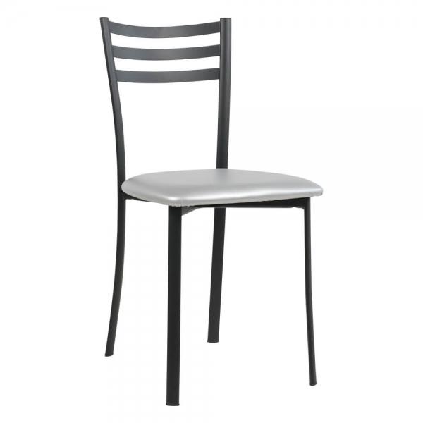 Chaise de cuisine en métal noir assise aluminium- Ace 1320 - 59