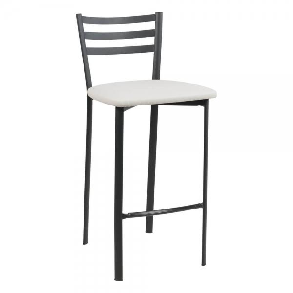 Tabouret snack en métal noir assise rembourrée - Ace 1329 - 45