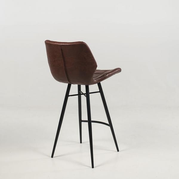 Tabouret vintage pieds en métal noir - Impia - 16