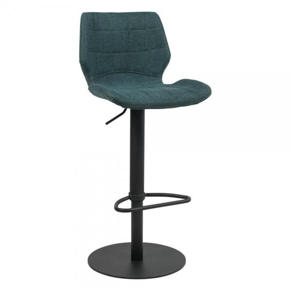 Tabouret réglable vintage en métal noir et assise verte  - Indica - 22