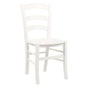 Chaise en bois laqué blanc vieilli - Venezia