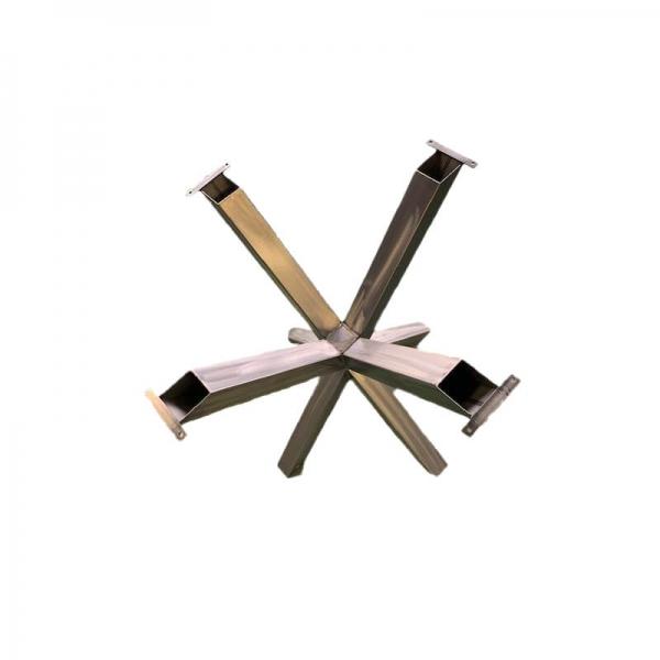 Pied de table central mikado en métal noir - Rosace  - 3