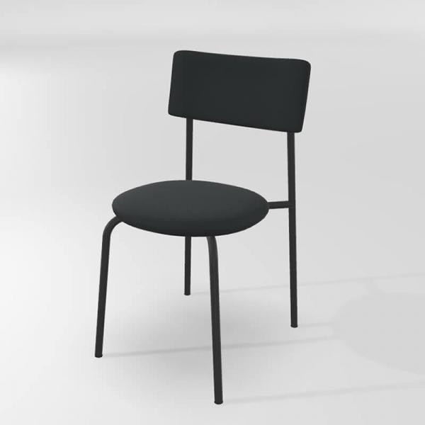 Chaise de cuisine en synthétique noire  - 2