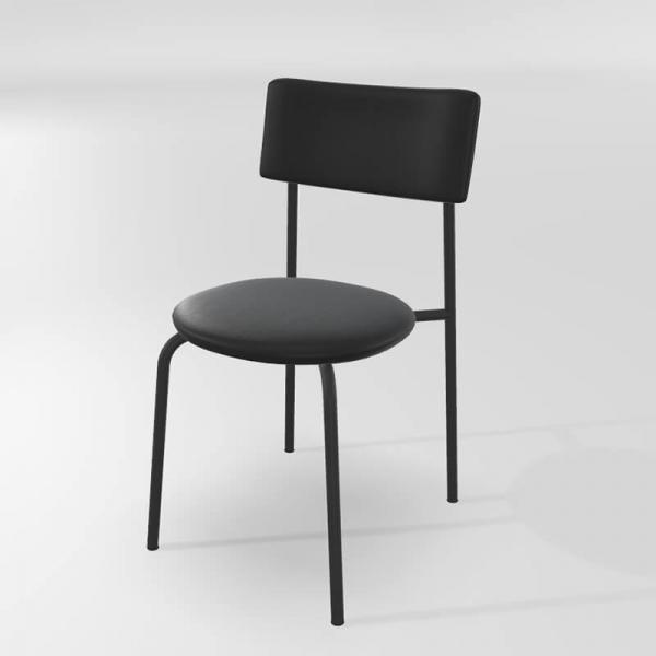 Chaise de cuisine noire en synthétique  - 8