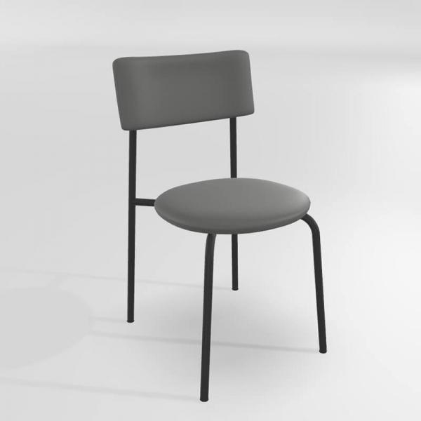 Chaise de cuisine moderne grise  - 13