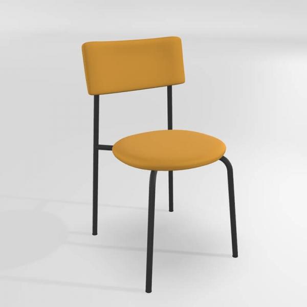 Chaise de cuisine moderne jaune - 15