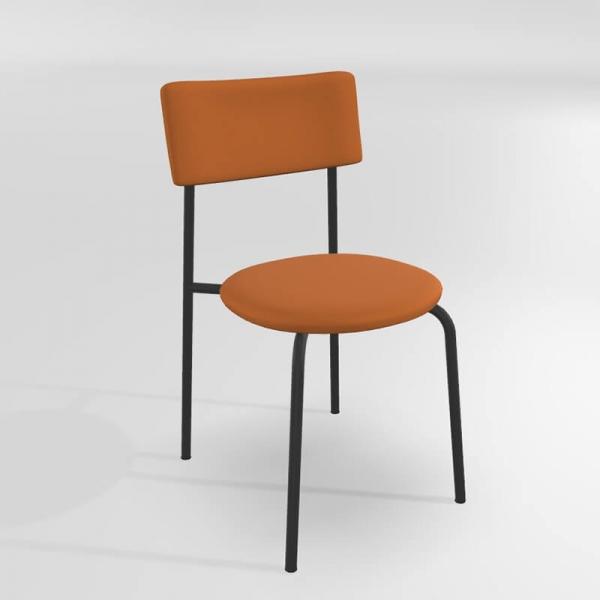 Chaise en synthétique orange - 17