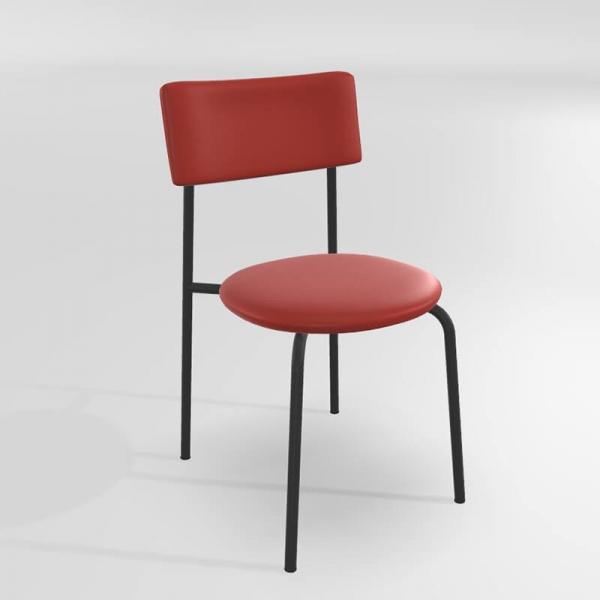 Chaise de cuisine tendance rouge - 19