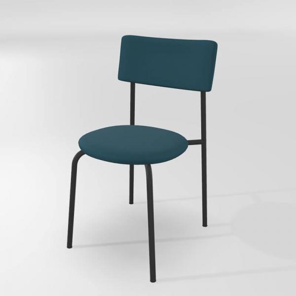 Chaise moderne de cuisine en synthétique avec pieds métal - 22