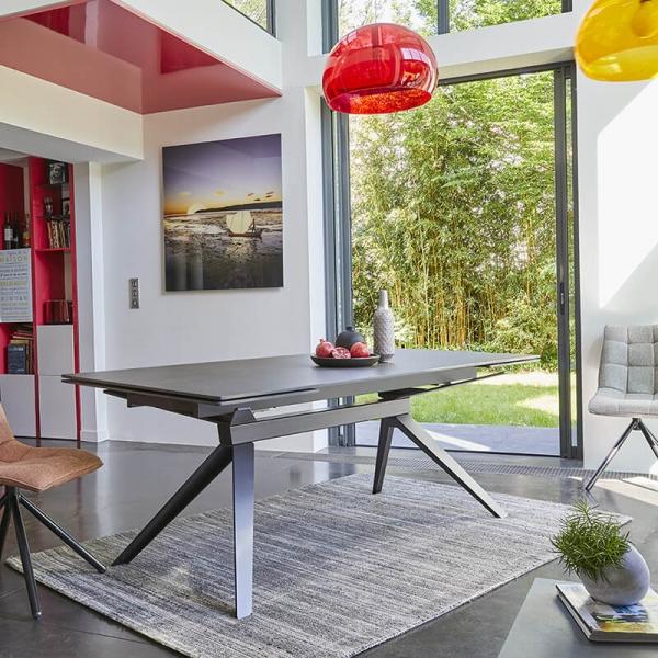 Table extensible de salle à manger design en céramique - Luna - 3