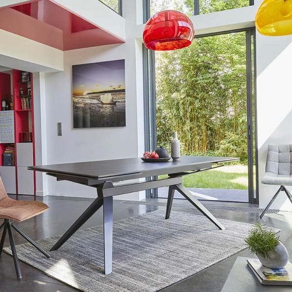 Table extensible de salle à manger design en céramique - Luna - 5