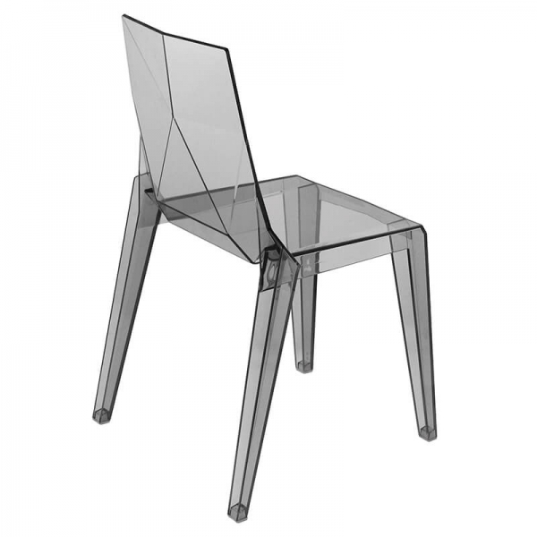 Chaise en polycarbonate transparent empilable fabrication italienne - Ice - 3