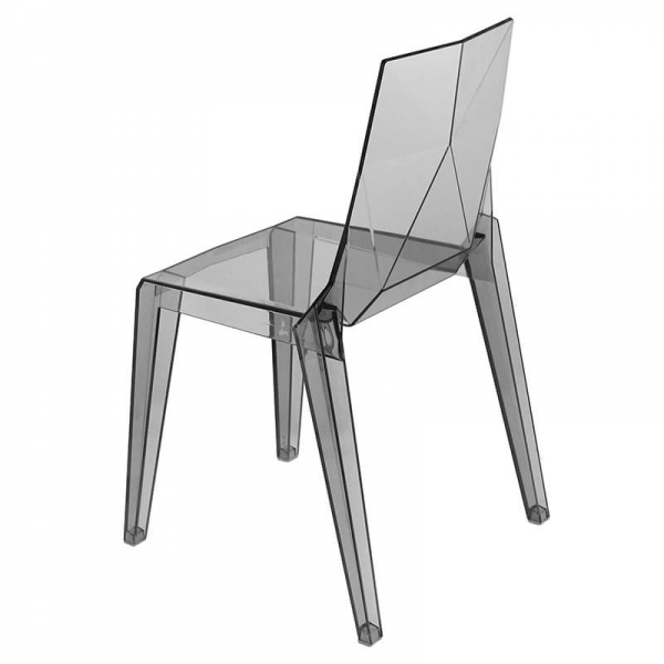 Chaise transparente empilable fabrication italienne - Ice - 4