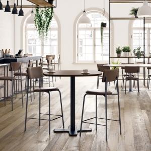 Table ronde pour cuisine en stratifié avec pied central - Spinner