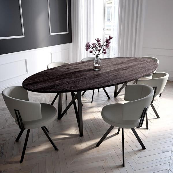 Table design de salle à manger ovale - 2