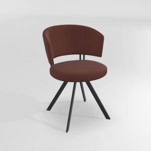 Chaise design confortable pivotante avec pieds en métal