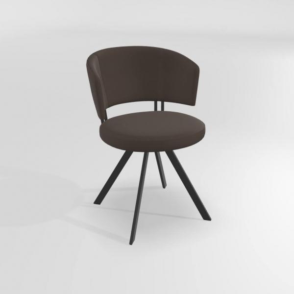 Chaise moderne confortable pivotante avec pieds en métal  - 2
