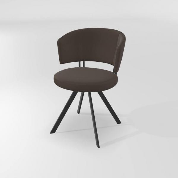Chaise tendance confortable pivotante avec pieds en métal - 3