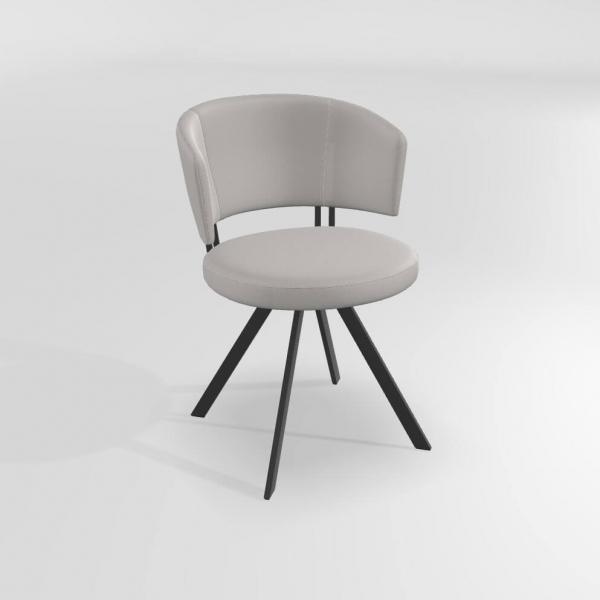 Chaise design pivotante en synthétique  - 4