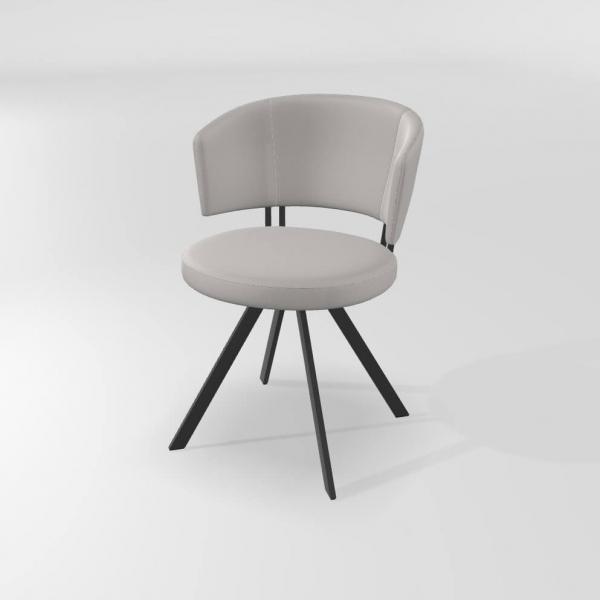 Chaise moderne pivotante blanche  - 5