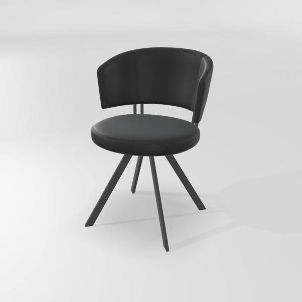 Chaise moderne noire  - 11