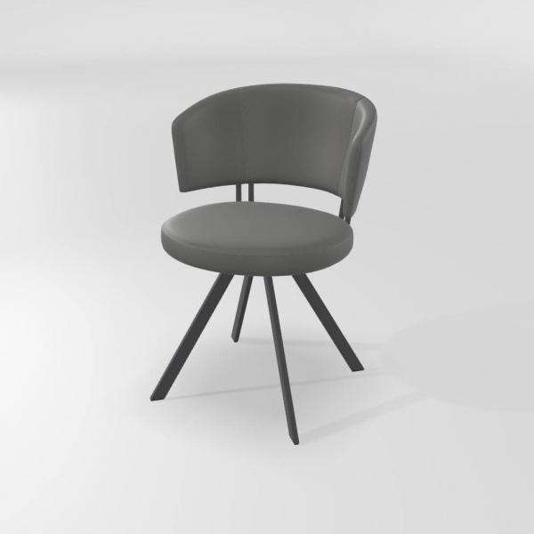 Chaise de salle à manger en synthétique avec pieds métal - 13