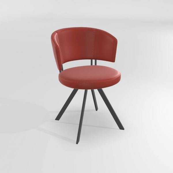 Chaise design rouge  - 18