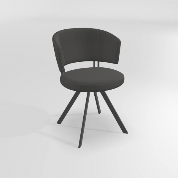 Chaise design grise  - 22