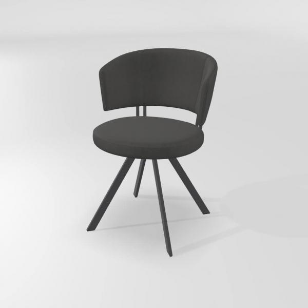Chaise tendance pivotante grise - 23