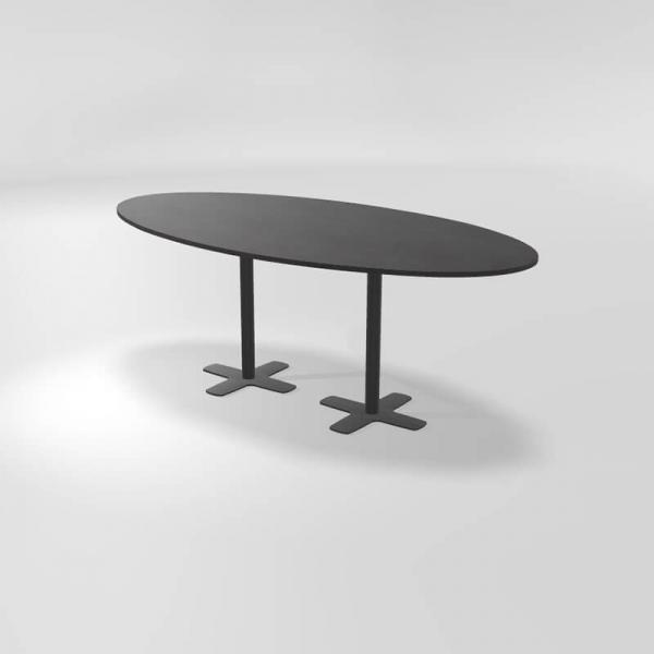 Table hauteur 90 cm en stratifié avec deux pieds - 2