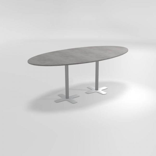 Table ovale hauteur 90 cm ovale en stratifié  - 3