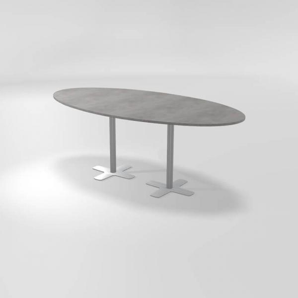 Table snack en stratifié de forme ovale - 4