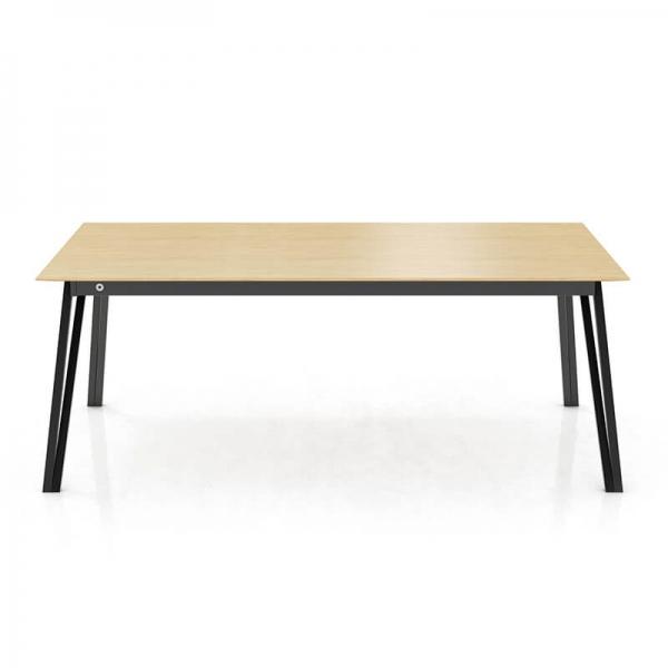 Table en bois massif avec allonges avec pieds en métal forme épingle - Brest Mobitec® - 2