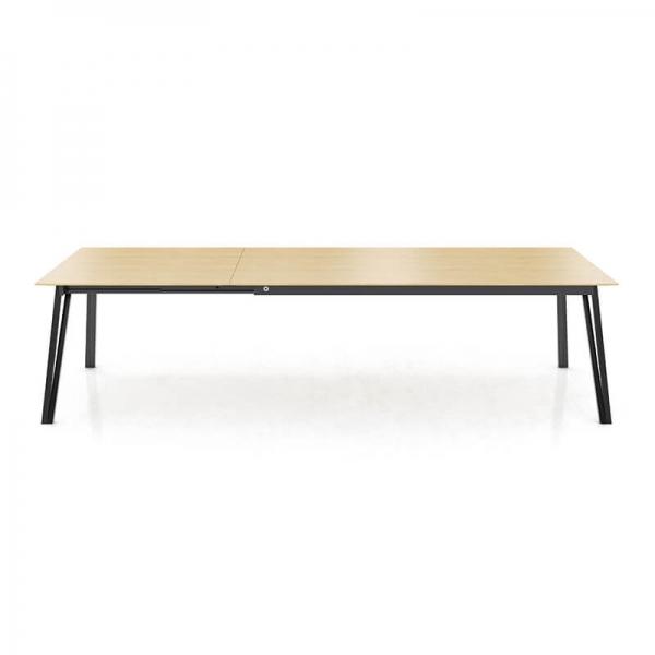 Table en bois extensible avec pieds en métal forme épingle - Brest Mobitec® - 4
