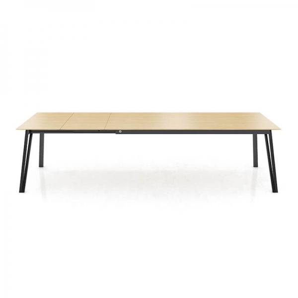 Table style industriel extensible bois et métal - Brest Mobitec® - 6