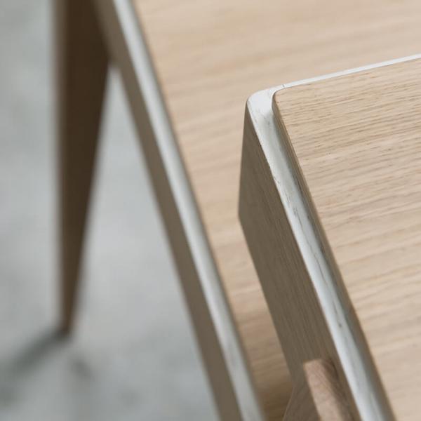 Bureau avec rangements en bois origine France - 3
