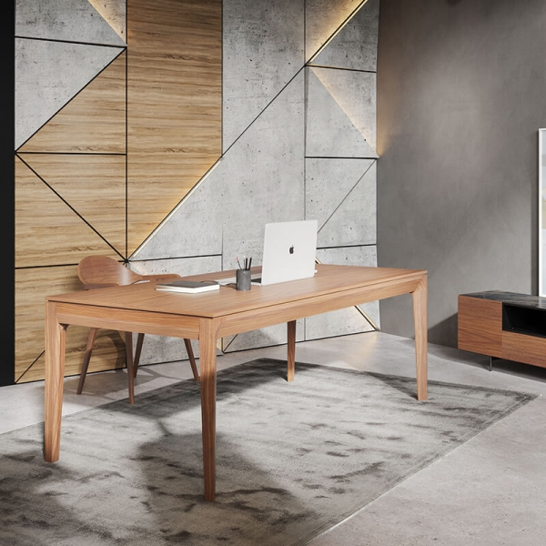 Bureau en bois avec tiroirs origine France - 1