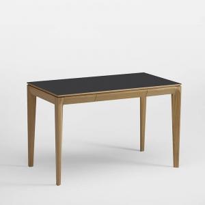 Bureau en bois et céramique avec tiroir