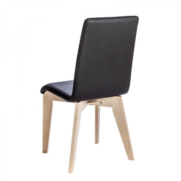 Chaise française en synthétique avec pieds bois - Yam Eco - 8