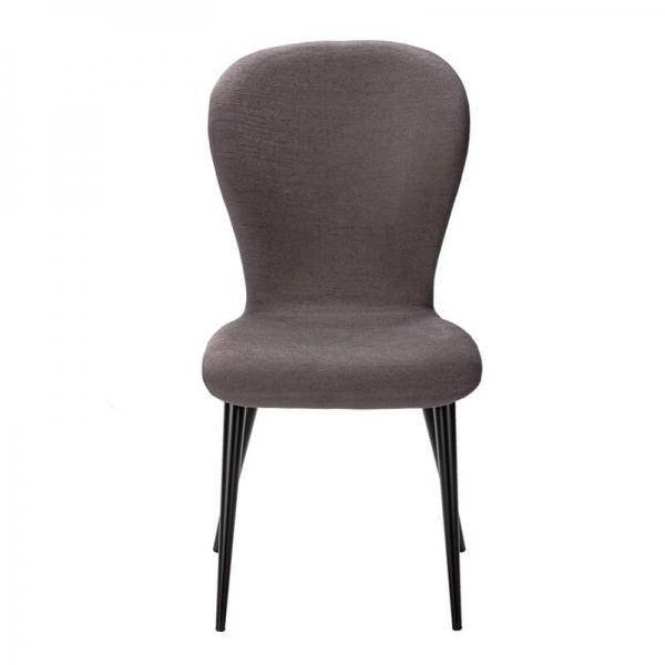 Chaise française en tissu gris et pieds métal - Lila Eco - 5