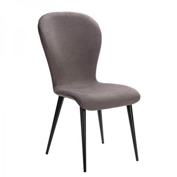 Chaise française grise en métal et tissu - Lila Eco - 7